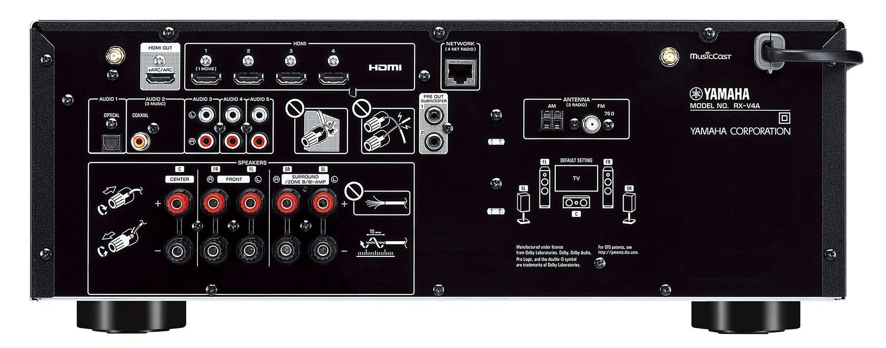 The least expensive of Yamaha's new generation of AV receivers has features and performance that once cost thousands, and some that will keep it current for years.