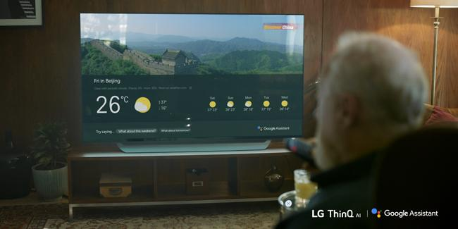 You can now use the Google Assistant on LG's 2018 ThinQ TVs