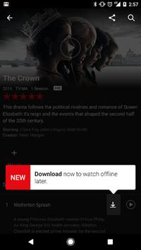 Netflix Adds Offline Viewing Option