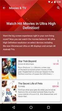 Google Play Adds Ultra HD Movies